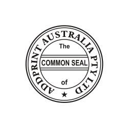 Pre Inked Common Seal Certification Stamps